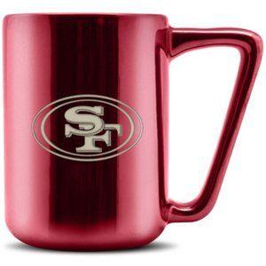 49ers NFL Ceramic Mug  w/ Laser Engraved Logo 16oz